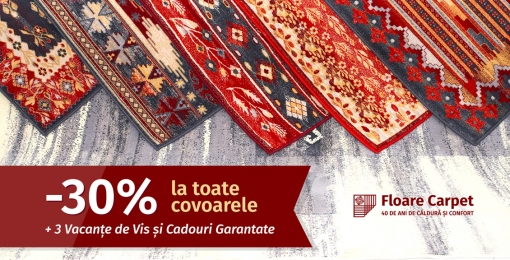 Covorul Magic de la Floare Carpet te duce în Vacanța de Vis!